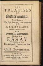 "John Locke's ""Two Treatises of Government"" - 1690. Source: Wikipedia"