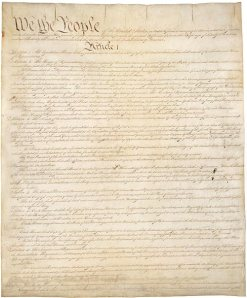 US Constitution - Page 1