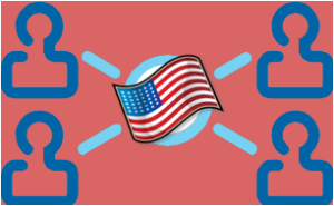 People Networked with Flag